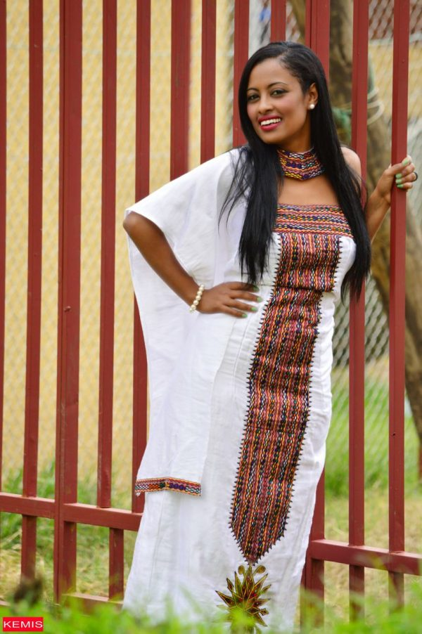ethiopian modern wedding dress
