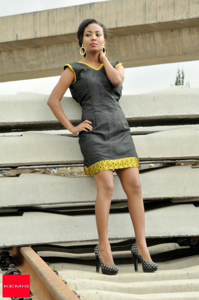 Black Ethiopian modern dress