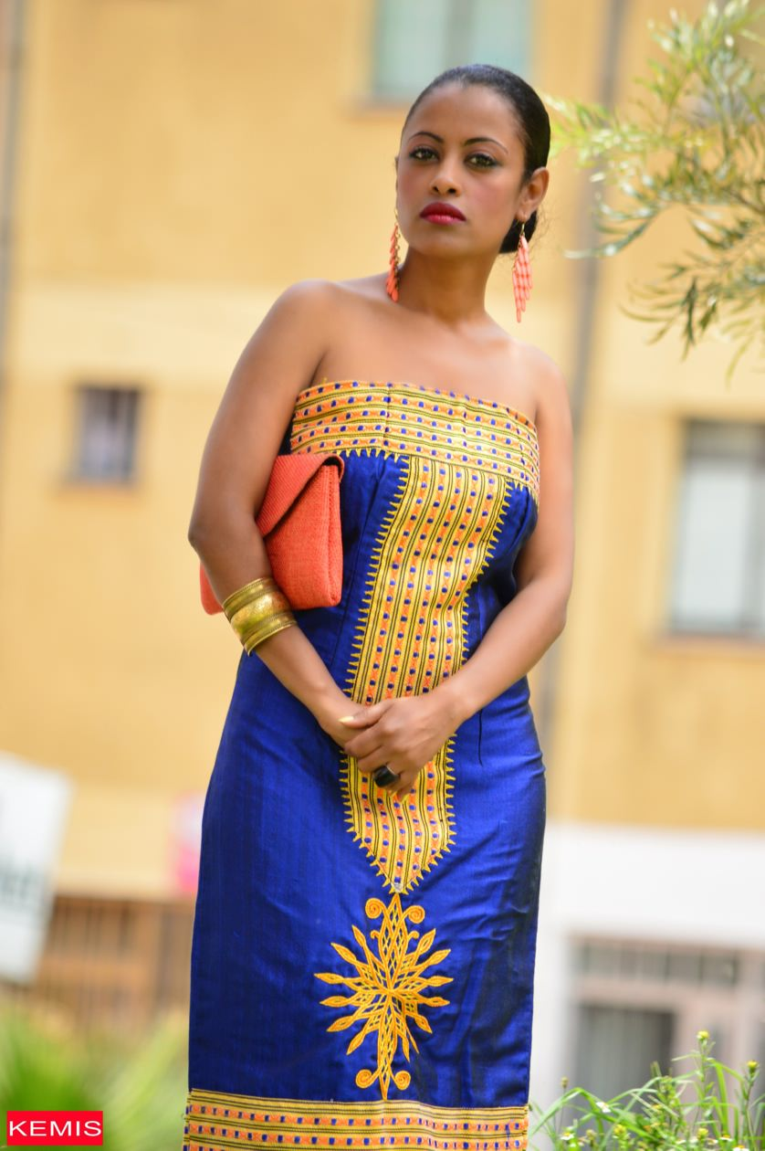 Esther Ethiopian Traditional Clothes Kemis Designs