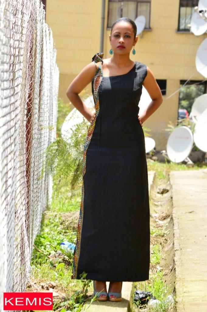 ethiopian modern blcack dresses