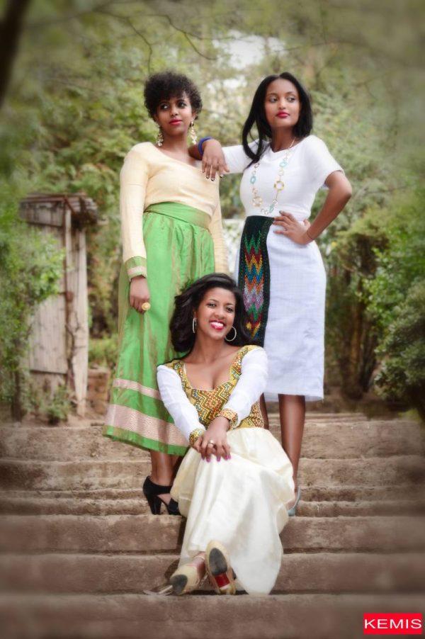 Ethiopian cultural dress kemisd habesha kemis