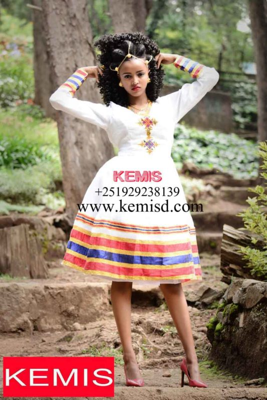Ethiopian traditional dress image