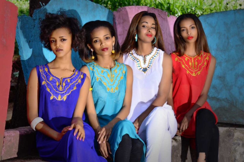 BROWN ETHIOPIAN TUNICS