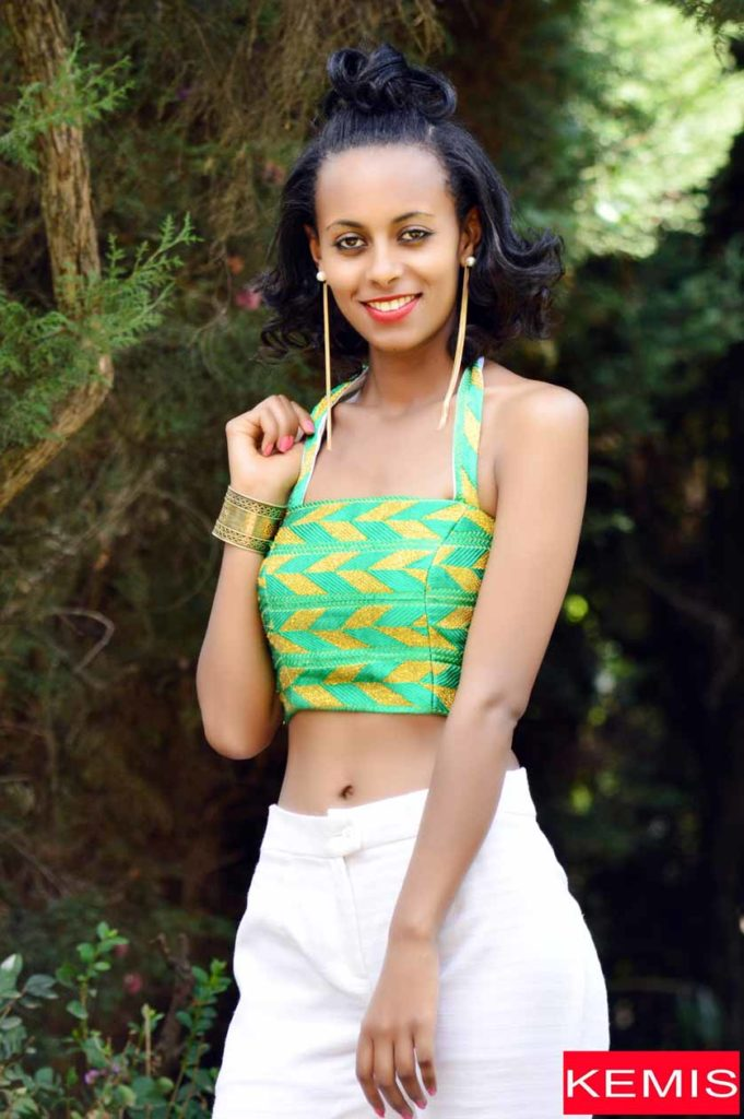 HENRIETTE DELILLE ETHIOPIAN CROP TOP AND PANTS
