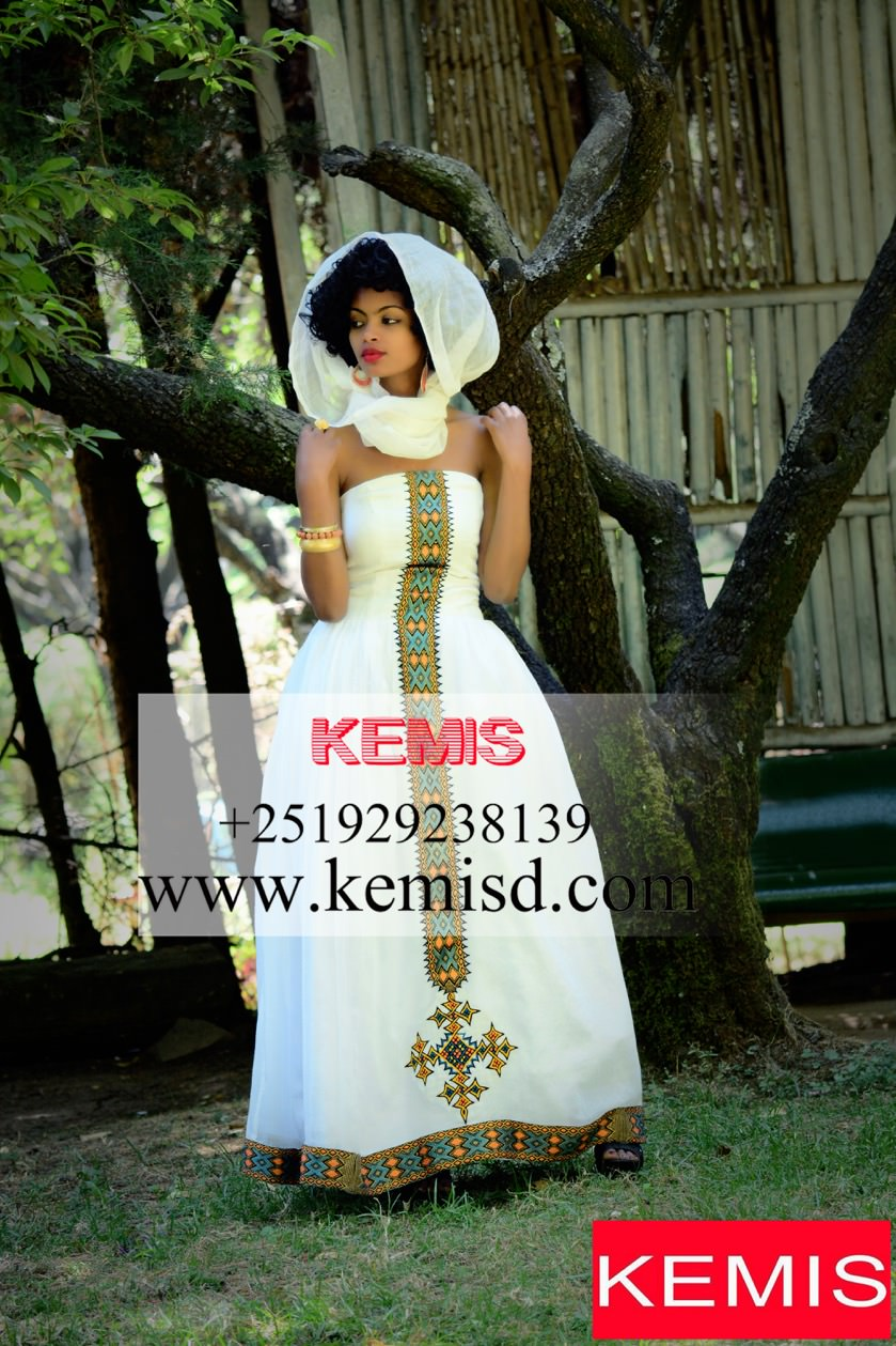 Lorna Ethiopian Wedding Dress Kemis Designs