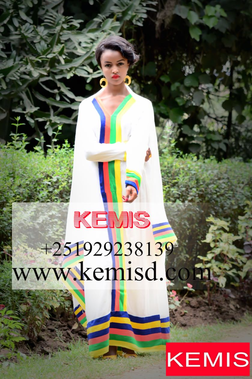 9c786b2fcfb BILLIE JEAN ETHIOPIAN TRADITIONAL DRESS NEW STYLE - Kemis Designs